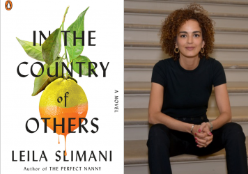 Cover of <em>In the Country of Others </em>and author Leila Slimani.