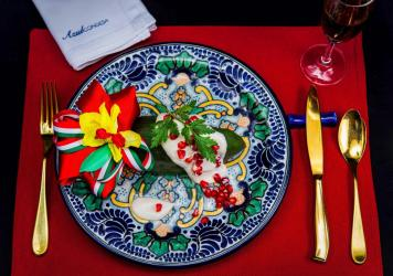 The chile en nogada — a stuffed poblano pepper covered in a walnut sauce — has become a classic Mexican dish. The version plated here comes from Ricardo Muñoz Zurita's Azul Condesa restaurant in Mexico City.