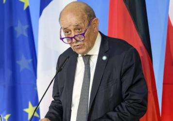 French Foreign Minister Jean-Yves Le Drian is seen on Sept. 10. France said Friday it was recalling its ambassadors to the U.S. and Australia after Australia scrapped a big French conventional submarine purchase in favor of nuclear subs built with U.S. t