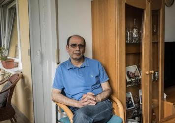 Hassan Mahmoud, 53, is one of the Syrians who testified in a landmark trial in Germany in which a former Syrian security official is charged with crimes against humanity and other crimes for overseeing torture at a prison.