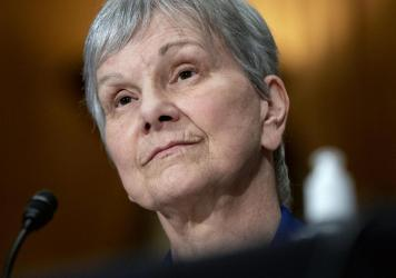 Dr. Janet Woodcock, acting commissioner of the Food and Drug Administration, appears before a Senate committee in July. Many public health leaders say letting the agency go so long without a permanent director has demoralized staff and sends the wrong me