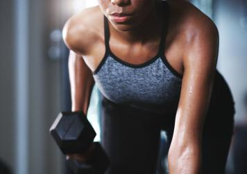 Weight lifting or other forms of strength training is a smart addition to your exercise routines. It helps stave off chronic illness and can help manage weight gain.