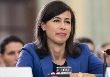Jessica Rosenworcel of the Federal Communications Commission testifies at a Senate hearing in September 2016. Her term as acting FCC chairwoman is set to expire when Congress adjourns at the end of the year.