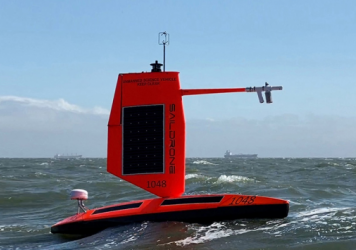 NOAA and Saildrone Inc. are piloting five specially designed surface drones in the Atlantic Ocean to gather data around the clock to help understand the physical processes of hurricanes.