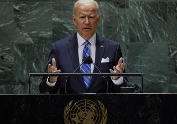 President Biden addresses the United Nations General Assembly, where he made a case for investing in developing nations.