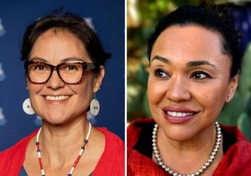 Left: Shelly C. Lowe, nominee for the chair of the National Endowment for the Humanities. Right: Maria Rosario Jackson, nominee for the National Endowment for the Arts chair