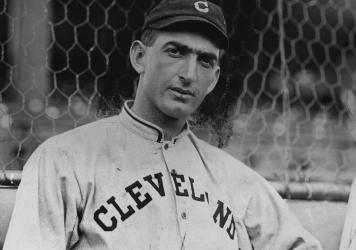 Joe Jackson is pictured when he played for the Cleveland Indians.