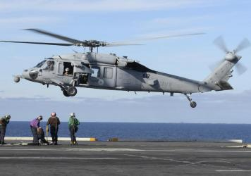 The remains of five people and the wreckage of a U.S. Navy helicopter that crashed in the Pacific Ocean off California have been recovered, the Navy said in a statement on Tuesday. An MH-60S helicopter, similar the one pictured, and five crew members wer