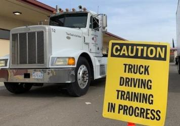 Students at Patterson High School in Patterson, Calif., are participating in the one of the first truck-driving programs for students at a non-vocational high school in the country.