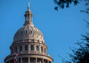 The Texas state Capitol is seen on Oct. 2. The Justice Department is suing over the state's restrictive abortion law and heading back to the Supreme Court to seek a halt to it while legal proceedings continue.