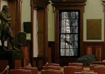 A statue honoring Thomas Jefferson has stood inside the council chamber in New York City Hall for more than 100 years. It's now headed for another location — but exactly where remains in doubt.