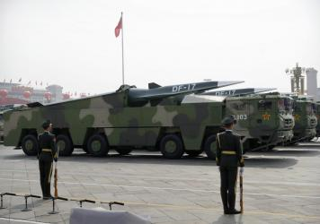 China's DF-17 missile is a medium-range hypersonic weapon capable of travelling over five times the speed of sound.