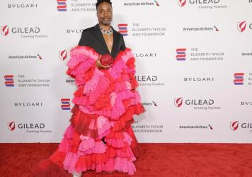 Billy Porter at Elizabeth Taylor Ball to End AIDS in West Hollywood, in September.