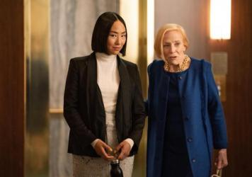 """Greta Lee and Holland Taylor in """"The Morning Show."""""""