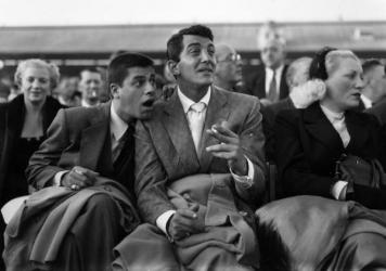 Dean Martin, right, and Jerry Lewis in 1953. They met in 1945, and over the next decade went on to become the highest-paid comedy act in the U.S.