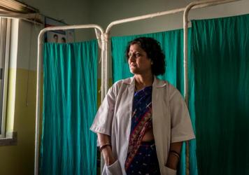 """Dr. Simmi Mahesh and Palo Khoya talk after the abortion. """"I was traumatized and terrified, wondering whether I would be in massive pain,"""" Khoya says. """"The doc reassured me and carried out the abortion safely."""" She now visits the doctor regularly for fami"""