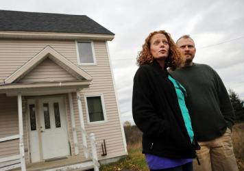 Last fall's state-ordered quarantine of nurse Kaci Hickox (shown here with her boyfriend, Theodore Michael Wilbur, in late October) started at the airport in Newark, N.J., then followed her home to Fort Kent, Maine. Hickox treated Ebola patients in Afric