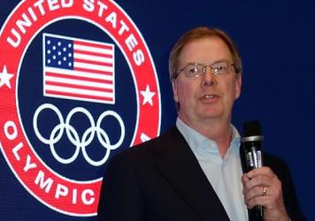 The U.S. Olympic Committee is expected to choose which American city will bid to host the 2024 Summer Olympics. Committee chairman Larry Probst is seen speaking last February.