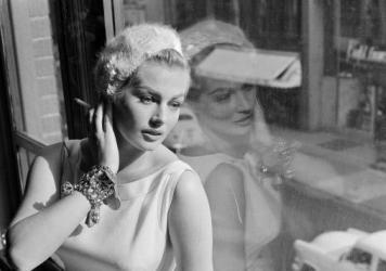 Anita Ekberg in a 1956 photo taken during rehearsals for a guest appearance on the <em>Frankie Laine Time.</em>