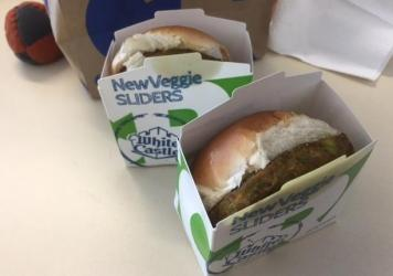 Mike and Peter usually chew their sandwiches in perfect unison, but the White Castle Veggie Slider threw them off.