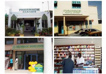A sampling of the 1,000-plus pharmacies in Senegal.