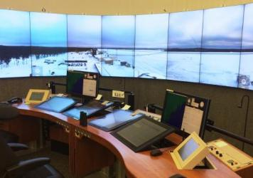 Mikael Henriksson works at an air traffic control center in the town of Sundsvall, Sweden. But the screens show the airport in the tiny town of Ornskoldsvik, more than 100 miles away. It's the world's first facility to use new technology to help passenge