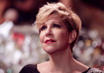 Joyce DiDonato sings during a video shoot for NPR Music's Field Recordings series at the Stonewall Inn in New York City