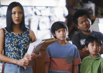 Constance Wu, Forrest Wheeler, Hudson Yang and Ian Chen star in ABC's new family comedy, <em>Fresh Off the Boat</em>.