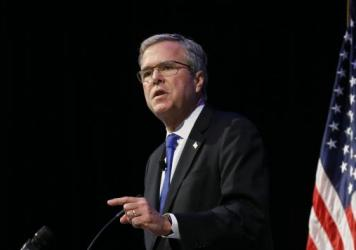 Former Florida Gov. Jeb Bush speaks at an Economic Club of Detroit meeting on Feb. 4.