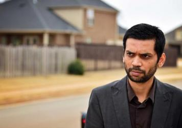 Chirag Patel stands in his neighborhood in Madison, Ala., where his father, Sureshbhai Patel, was severely injured by police. Visiting from India, the elder Patel was staying with his son, his wife and child in their Madison home.