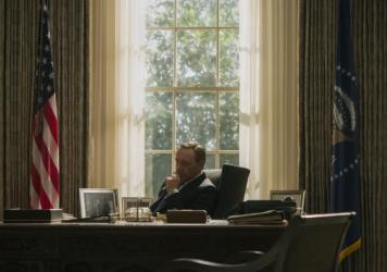 Kevin Spacey's President Frank Underwood is embattled and often frustrated in the third season of Netflix's <em>House of Cards</em>.