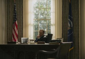 <em>House of Cards</em> stars Kevin Spacey as the ruthless politician Frank Underwood.