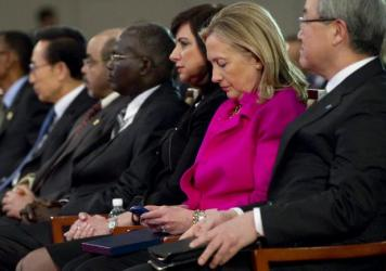 Hillary Clinton, seen here in 2011 during her tenure as secretary of state, used a personal email account instead of an official government account.