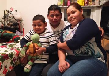 Wilfredis Ayala, an unauthorized immigrant from El Salvador, lives on Long Island, N.Y., with his U.S.-born son, Justin, and Justin's mother, Wendy Urbina.