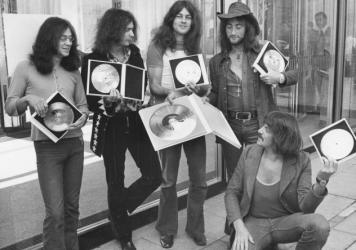 "The British rock band Deep Purple, shown here in 1971, wrote the hit song ""Smoke on the Water,"" after watching the casino in Montreux, Switzerland, go up in flames later that year. The casino caught fire during a Frank Zappa concert."
