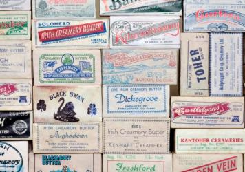 Butter labels from Irish creameries operating in the 1970s.