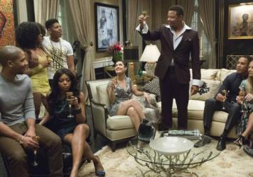 Terrence Howard (center) stars in <em>Empire</em> with (from left): Jussie Smollett, Serayah McNeill, Taraji P. Henson, Bryshere Gray, Grace Gealey, Trai Byers and Kaitlin Doubleday.
