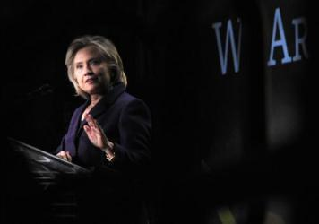 """""""Don't you someday want to see a woman president of the United States of America?"""" Clinton asked with a glimmer in her eye at the EMILY's List gala earlier this month."""
