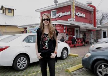 Avalon Emerson hits up Mi Madres for some breakfast tacos in Austin, Texas.