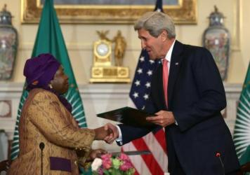Secretary of State John Kerry and African Union Commission Chairperson Nkosazana Dlamini Zuma signed an agreement Monday to establish the first Centers for Disease Control and Prevention in Africa. The U.S. will provide technical advice and a few staff f