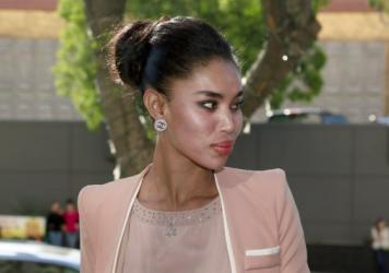 V. Stiviano, whose recording of former Los Angeles Clippers basketball team owner Donald Sterling led to him having to sell the team, arrives at Los Angeles Superior Court in March.