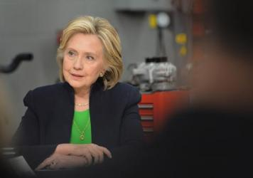 """""""We need to fix our dysfunctional political system and get unaccounted money out of it, once and for all, even if that takes a constitutional amendment,"""" Hillary Clinton said at Kirkwood Community College in Iowa Tuesday."""