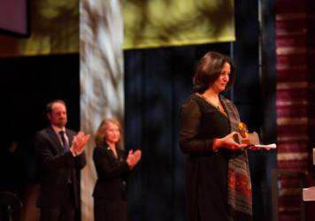 "Safeena Husain says: ""I educate girls."" Her efforts have brought 80,000 Indian girls into school; last week she received a Skoll Award for Social Entrepreneurship (above)."