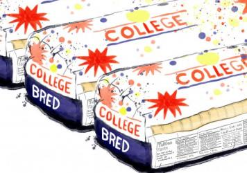 """""""Knowing exactly how much college is going to cost should be as simple as knowing how many calories there are in a slice of bread,"""" said Sen. Al Franken of Minnesota."""