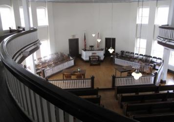 Every spring, local residents have staged a play based on <em>To Kill a Mockingbird</em> in this courthouse in Monroeville, Ala.