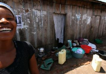 Irene lives in a fishing village in Uganda where the rate of HIV infection is 43 percent.