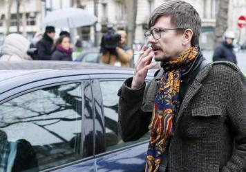 French cartoonist Luz, seen here in January, says he will leave the satirical magazine <em>Charlie Hebdo</em> this fall.
