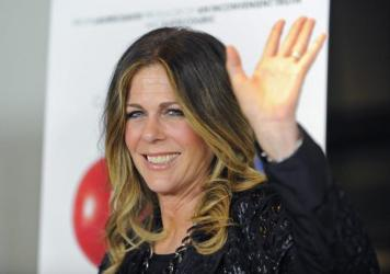 Actress Rita Wilson arrives at the premiere of the documentary <em>Fed Up</em> in West Hollywood, Calif., in May 2014.