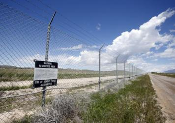 A security fence surrounds the main part of the U.S. Army's Dugway Proving Ground, a testing laboratory in the Utah desert. The Army says it mistakenly shipped live anthrax from Dugway to several labs in the U.S. and Korea.