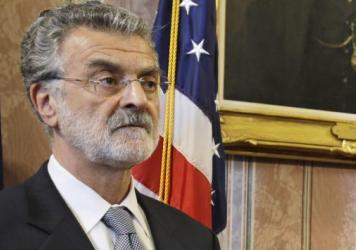 """""""This is a defining moment for Cleveland,"""" Mayor Frank Jackson says of reform efforts. He's seen here at a news conference last month."""